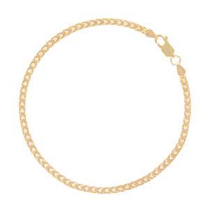 "SOLID 9ct Gold Italian Franco / Foxtail Bracelet - 3mm - 9"" Gents"