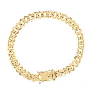 """9ct Solid Yellow Gold Miami Cuban Link Bracelet - 11mm - 8.5"""""""