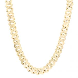 """9ct Gold Large Solid Classic Cuban Link Curb Chain - 17mm - 28"""""""
