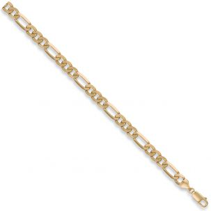 "9ct Yellow Gold Solid Italian Made Figaro Chain - 7mm - 18"" - 30"""