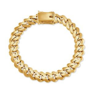 """9ct Yellow Gold Solid Miami Cuban Link Bracelet - 11 mm - 9"""""""