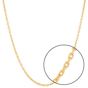 "9ct Gold Diamond Cut Oval Link Belcher Chain - 3.5mm - 18"" - 30"""