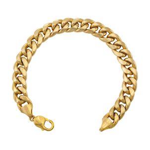"Huge 9ct Yellow Gold Italian Miami Cuban Bracelet - 11mm - 8.5"""