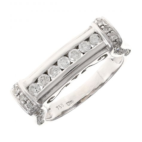 Pre-Owned 18ct White Gold Diamond Eternity Style Ring