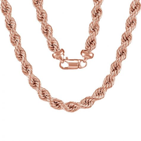 """9ct Rose Gold Extra Large Rope Chain - 10mm - 28"""""""