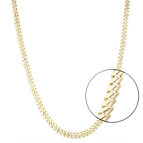 """9ct Yellow Gold Classic Tight Cuban Link Curb Chain - 6mm - 22"""""""