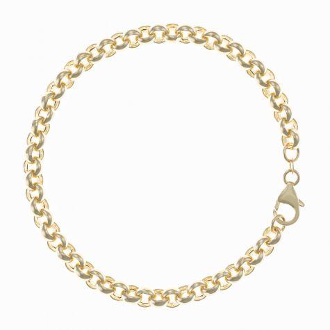 "Italian 9ct Gold Tight Link Belcher Bracelet - 6mm - 8.5"" Gents"