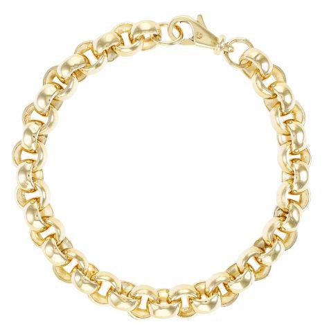 """9 ct Gold Heavy Belcher Bracelet 9.5MM Polished - 9"""" - GENTS"""