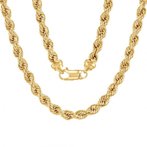"""9ct Yellow Gold Extra Large Rope Chain - 8mm - 28"""""""