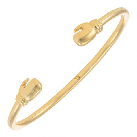9ct Yellow Gold Solid Boxing Glove Bangle - Babies