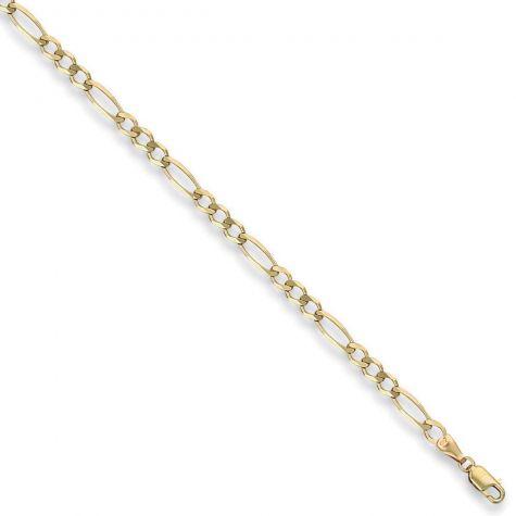 "9ct Yellow Gold Solid Italian Made Figaro Chain - 4.35mm  - 30"""