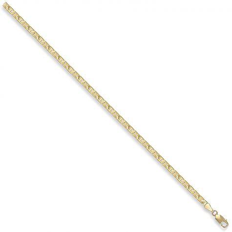 "9ct Yellow Gold Italian Made Flat Anchor Chain - 3mm - 16"" - 30"""