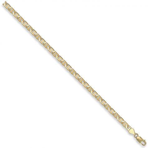 "9ct Yellow Gold Italian Made Flat Anchor Chain - 4.5mm - 16"" - 30"""