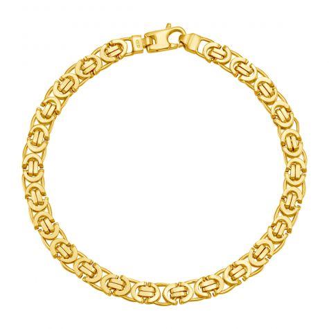 "9ct Yellow Gold Italian Byzantine Bracelet - 5.75mm  - 8"" - Gents"