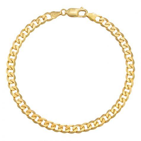 "9ct Yellow Gold Classic Curb bracelet - 5.5mm - 7"" - Ladies"