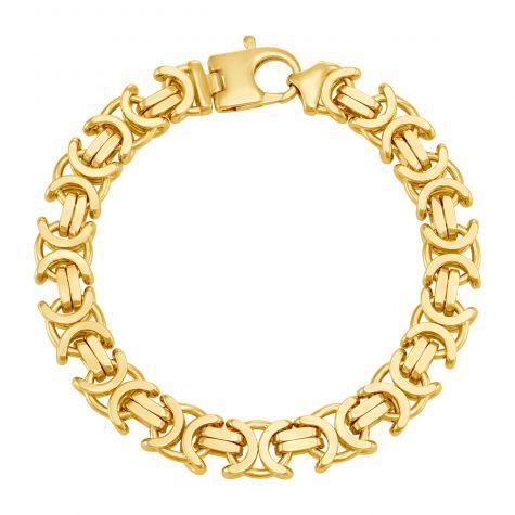 "9ct Yellow Gold Italian Byzantine Bracelet - 11.75mm - 8"" - Gents"
