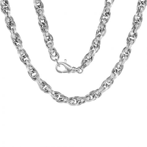"""9ct White Gold Semi-solid Prince of Wales Chain - 5.5mm - 22"""""""