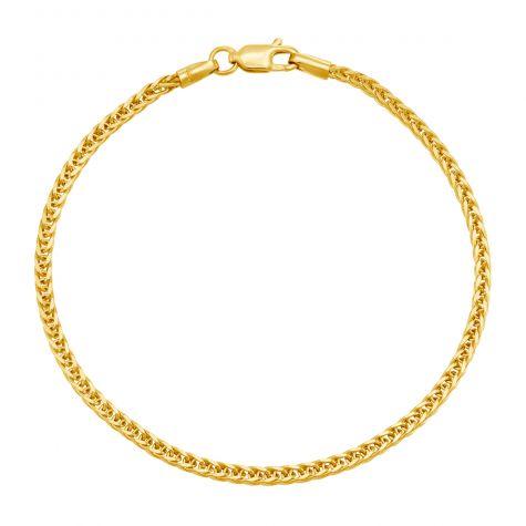 "9ct Yellow Gold Italian Made Spiga Bracelet - 7"" - 2.5mm - Ladies"