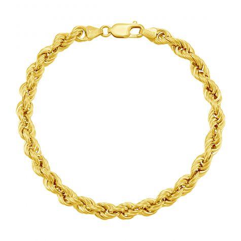 "9ct Yellow Gold Italian Rope Bracelet - 6.3mm - 8"" - Gents"