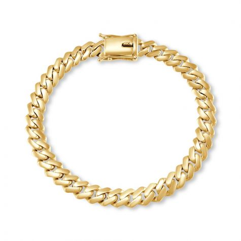 "9ct Solid Gold Heavy Cuban Link Bracelet - 8.5mm - 8.5 "" Gents"