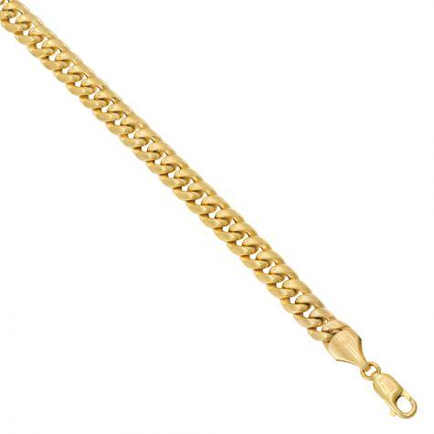 "9ct Yellow Gold Italian Made Miami Cuban Chain - 8 mm - 28"""