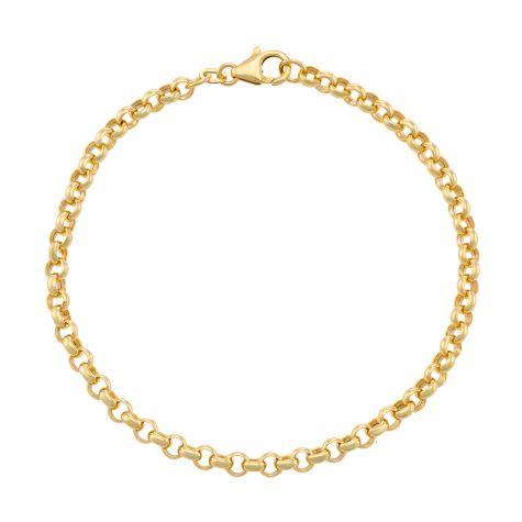 "9ct Gold Italian Tight Link Belcher Bracelet - 4mm - 8.25"" Gents"