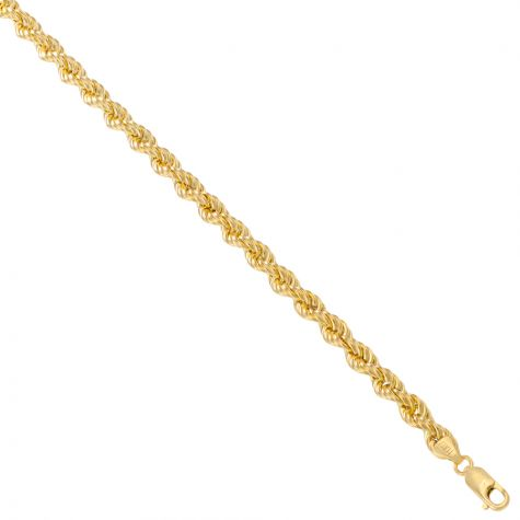 "9ct Yellow Gold Italian Made Classic Rope Chain  - 6mm  - 28"""