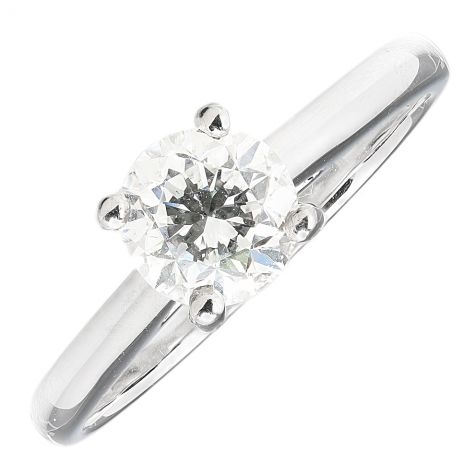 Pre-Owned 950 Platinum 1.00ct Diamond Solitaire Engagement Ring
