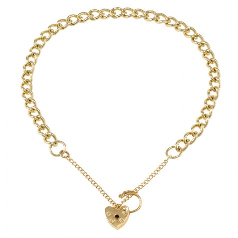 9ct Yellow gold Tight Link Curb charm Bracelet - 4.75mm - Ladies