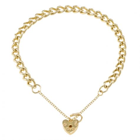 9ct Yellow gold Tight Link Curb charm Bracelet - 5.65mm - Ladies