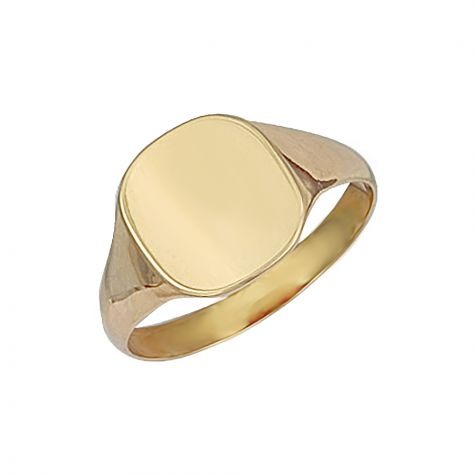 9ct Yellow Gold Solid Polished Square Signet Ring - 12.5mm