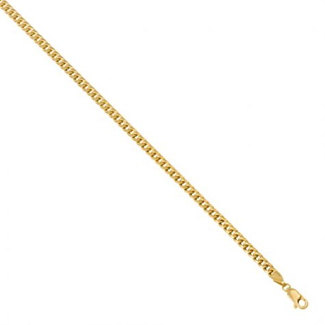 """SEMI SOLID - 9ct Yellow Gold Italian Made Curb Chain -3mm- 20"""" - 30"""""""