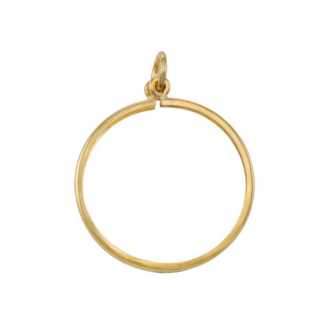 9ct Yellow Gold 1/10 Krugerrand Coin Mount Pendant