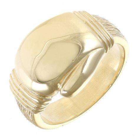 Solid Gents 9ct Yellow Gold Heavy Boxing Glove Ring