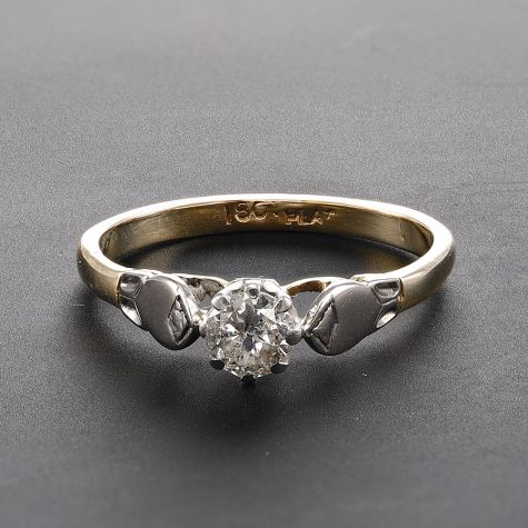 Vintage Circa 1960`s 18ct Gold 0.40ct Diamond Engagement Ring