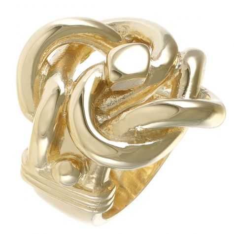 Solid 9ct Yellow Gold Heavy - Weight Extra Large Gents Knot Ring