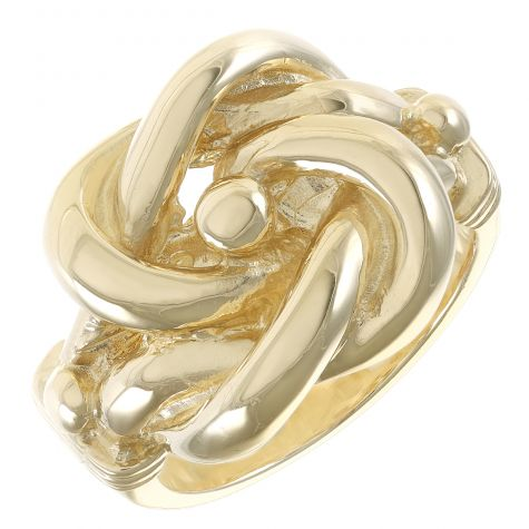 9ct Yellow Gold Solid Handmade Unique Extra Large Knot Ring