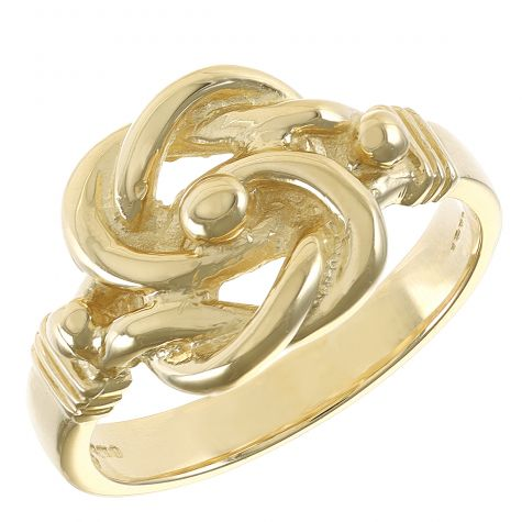 9ct Yellow Gold Solid Handmade Unique Small Knot Ring 8G