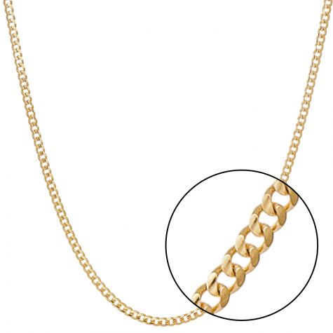 "SOLID 9ct Yellow Gold Heavy Italian Micro Cuban Chain - 20"" - 4mm"