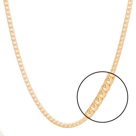 """Solid 9ct Yellow Gold Italian Franco/Foxtail Chain - 3mm - 24"""""""