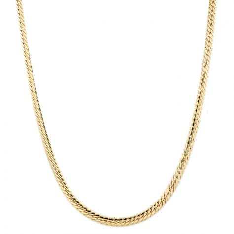 """9ct Yellow Gold Italian Tight Double Curb Chain - 28"""" - 6 mm"""