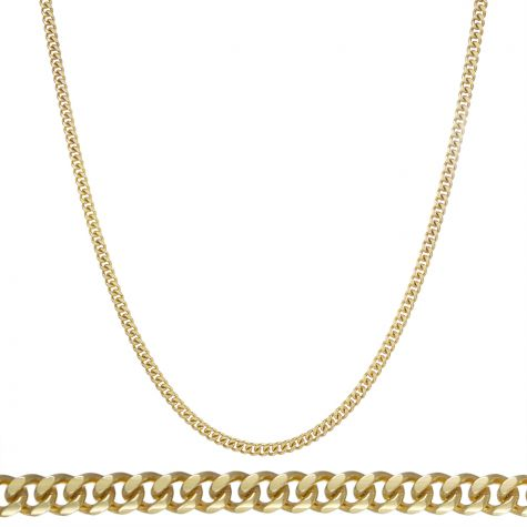 "SOLID 9ct Yellow Gold Heavy Italian Micro Cuban Chain - 22"" - 4mm"