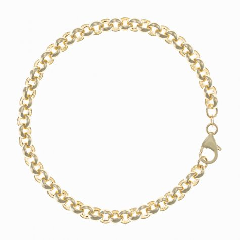 "Italian 9ct Gold Tight Link Belcher Bracelet - 6mm - 7.5"" Ladies"