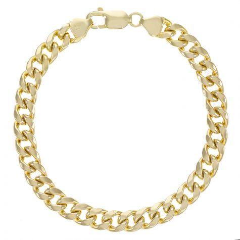 "9ct Yellow Gold Miami Cuban Bracelet - 8mm - 7.5"" Ladies"