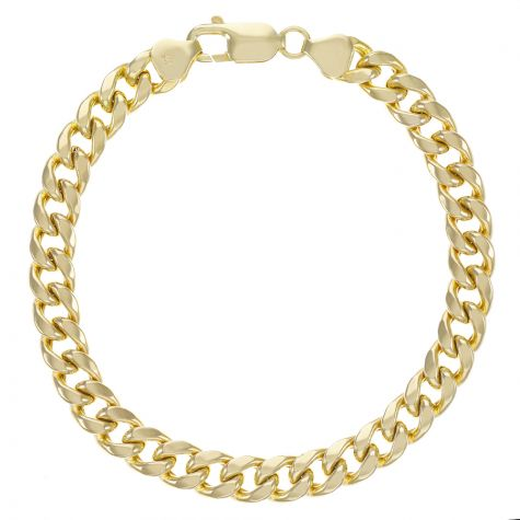 "9ct Yellow Gold Miami Cuban Bracelet - 8mm - 8.5"" Gents"