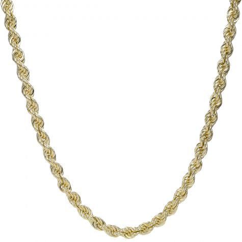 9ct Yellow Gold Italian Rope Chain - 28 inches  10mm
