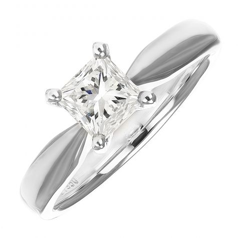 GIA CERTIFIED Platinum 1.01ct Diamond Engagement Ring - Size M