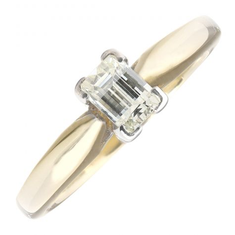 Pre-Owned 18ct Yellow Gold 0.50ct Diamond Classic Engagement Ring