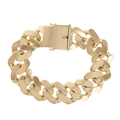 """SOLID 9ct Gold Huge Heavy Cuban Link Bracelet - 22.5mm - 9.5"""""""