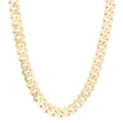 9ct Gold Large Solid Classic Cuban Link Curb Chain - 17mm - 28""